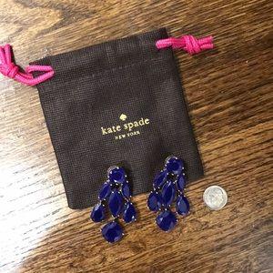 Kate Spade blue chandelier earrings